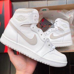 🤍 Nike air Jordan 1 hi 85 white neutral grey